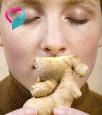 smelling ginger