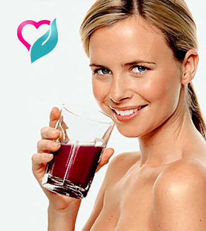 drinking beet root juice