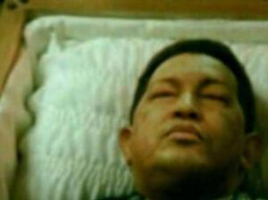 La imagen de Chávez que circula por redes sociales