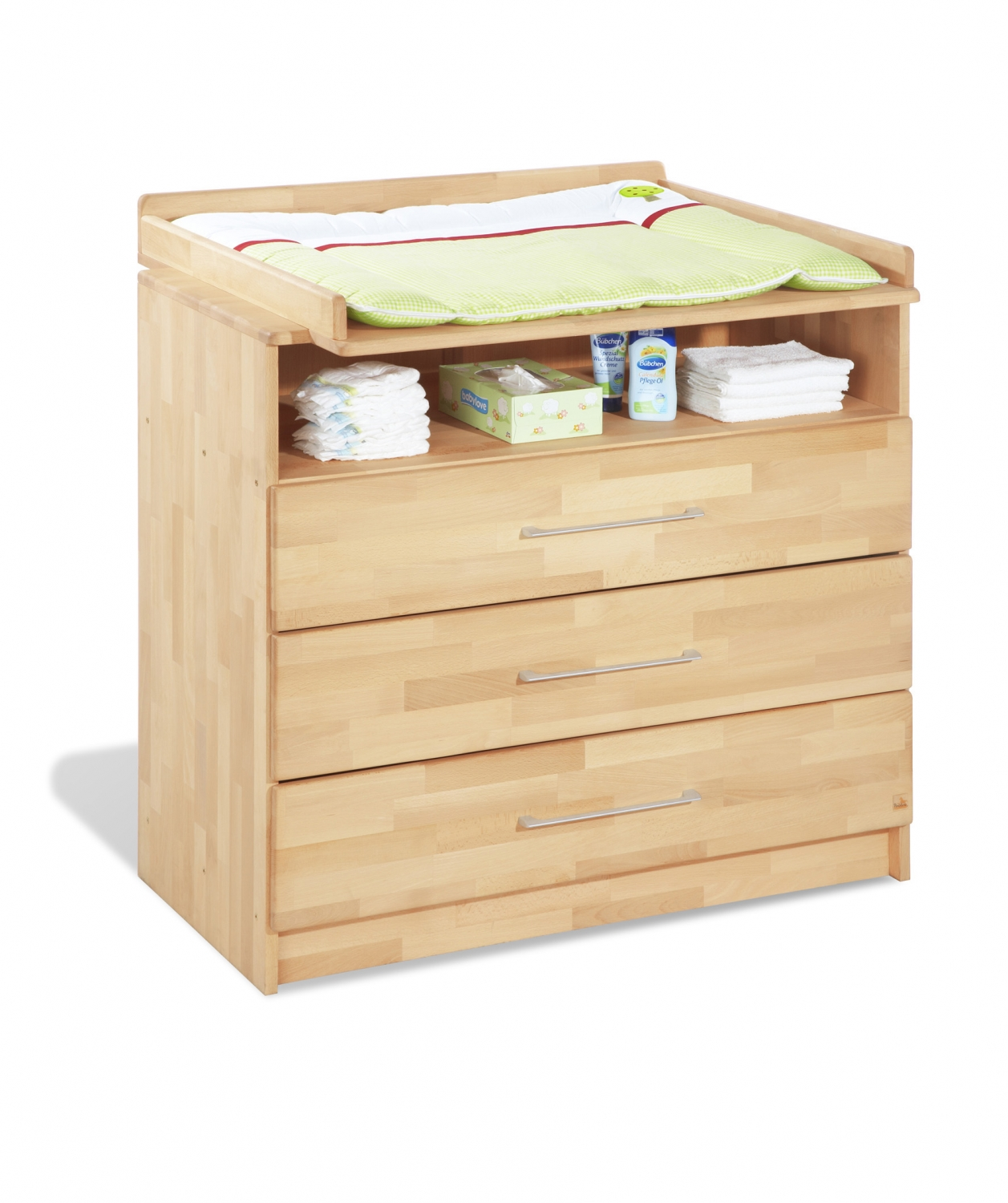 Design Wickelkommode Chambre Bébé Lit Commode Nature Pinolino