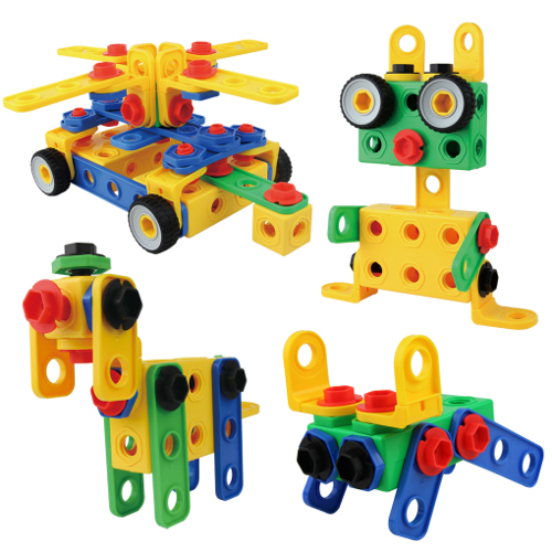 ETI Toys Play and Learn 172 Construction Engineering Blocks