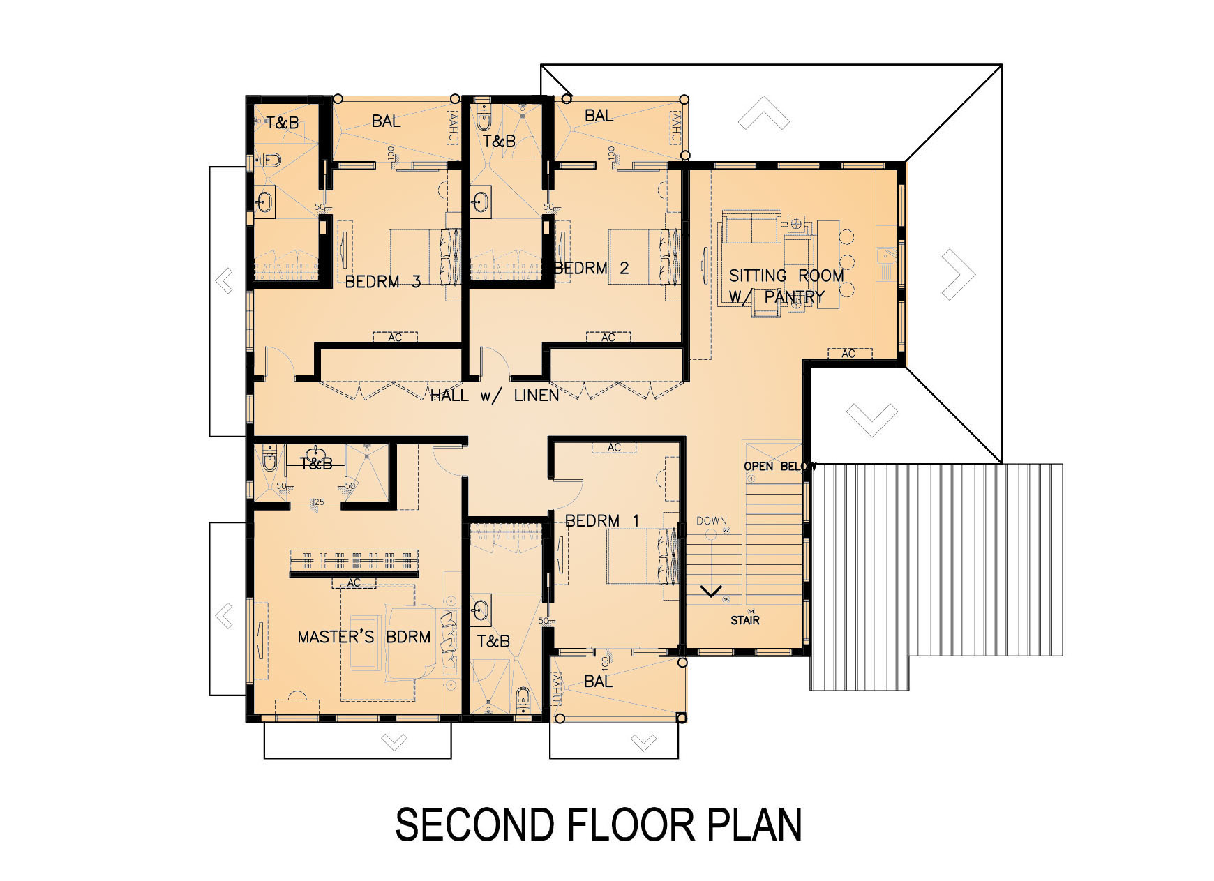 2nd Floor House Plans Residential 2 Storey With Lower Deck Proposal Eugene T