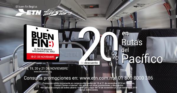 Descuentos en boletos de Autobús/Buen Fin