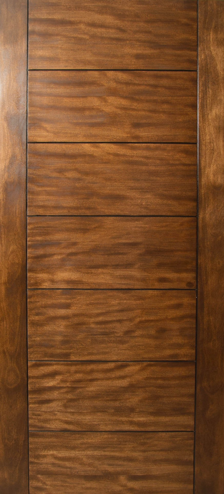 Modern Exterior Doors Sulcus - Multi Horizontal Plank Wood Door W/ Vertical