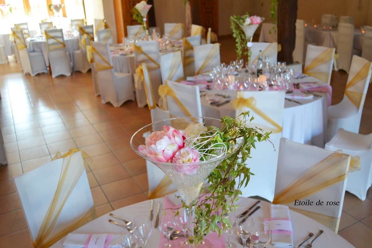 Deco Table Mariage Rose Et Blanc Decoration Table Or Rose