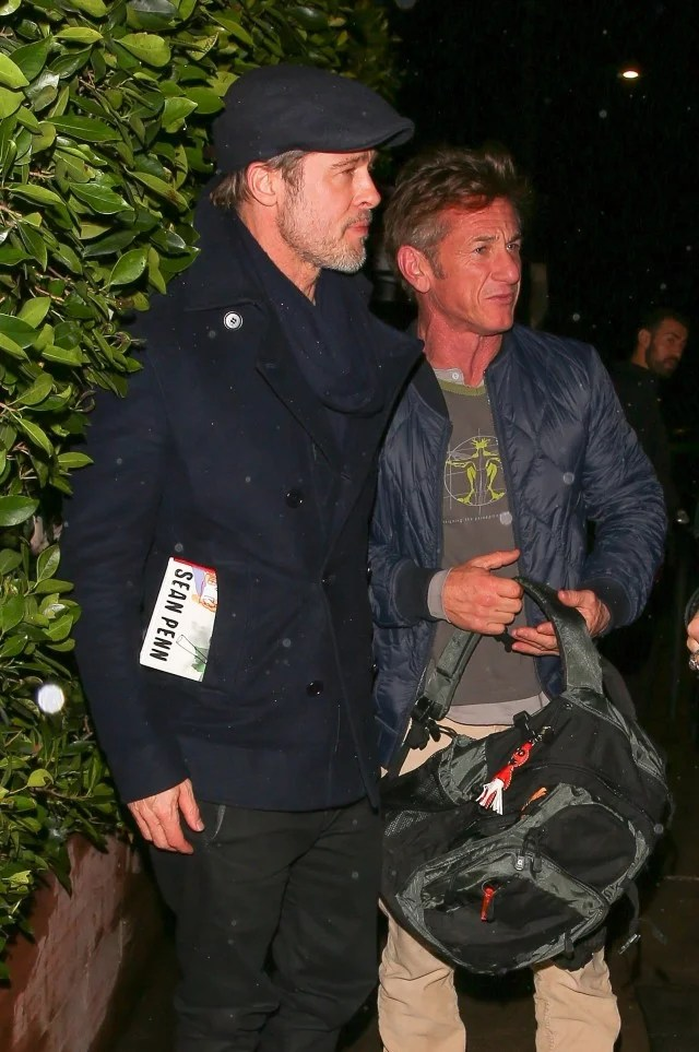 Black Fruday Brad Pitt Spotted At Dinner With Sean Penn And Bradley