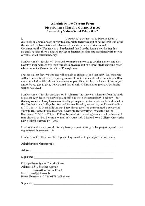 Digication e-Portfolio  Dorothy Ryan  Consent Forms - survey consent form