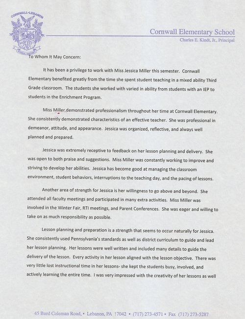 Education Recommendation Letter Choice Image - letter format formal