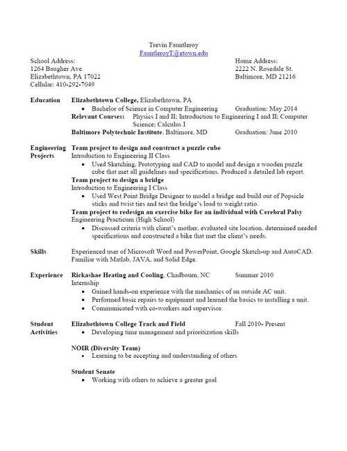 Digication e-Portfolio  Trevin Fauntleroy COMP ENGR 14  Resume