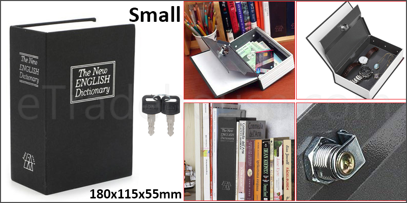 Mini Dictionary Book Safe Security Box Storage Piggy Bank