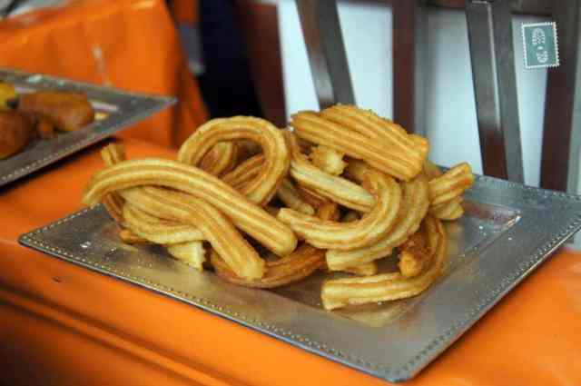 A plate of plain churros
