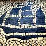 Portuguese style pavement in Macau - Ship