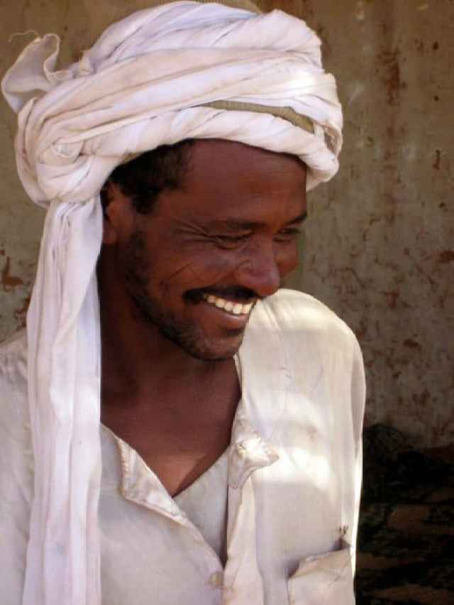 A coffee stand owner in  sudan