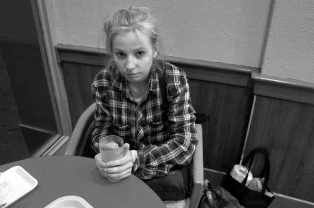 Hungry and unhappy girl