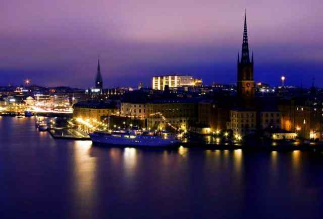 Stockholm at night