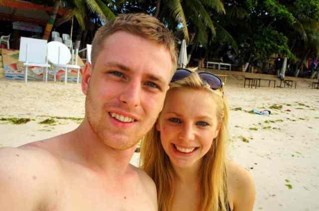 Me and cez on the beach