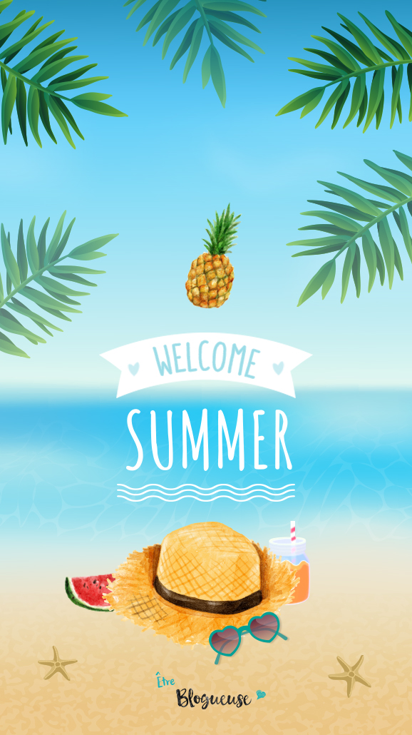 Wallpaper Apple Iphone 6 Welcome Summer Fond D 233 Cran 6 202 Tre Blogueuse