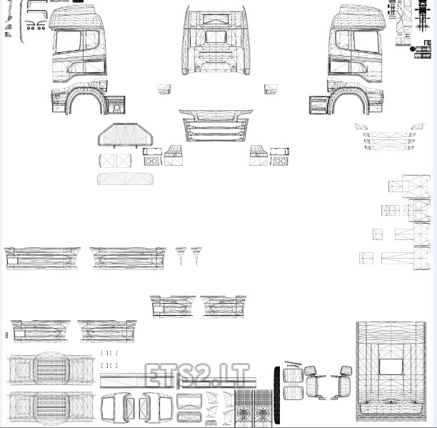 Template For Scania R  Streamline By RJL ETS 2 mods