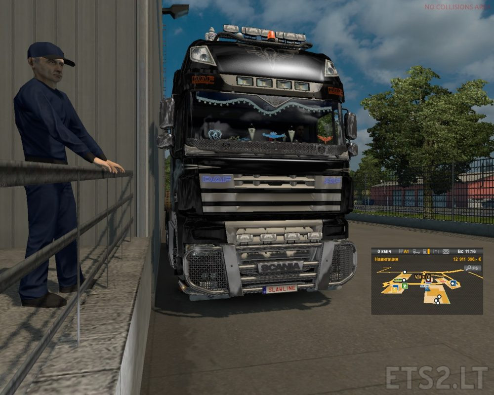Daf Scania Hybrid Daf Xf 105 And Scania V8 Mp Ets 2 Mods