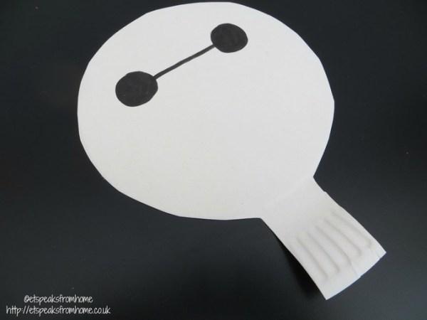 paper plate baymax head
