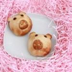 chinese sweet piggy bun pig