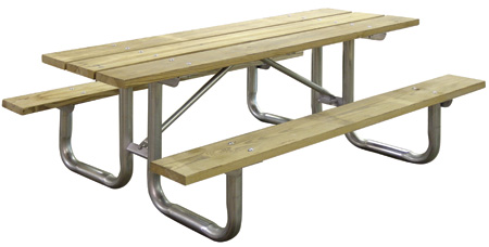 Wooden Picnic Table Available In 6 And 8 Foot Ett
