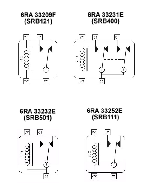 4 pin relay numbers