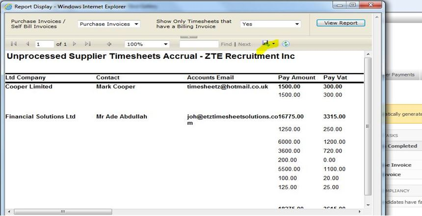 How can I identify which Supplier timesheets have not yet been paid