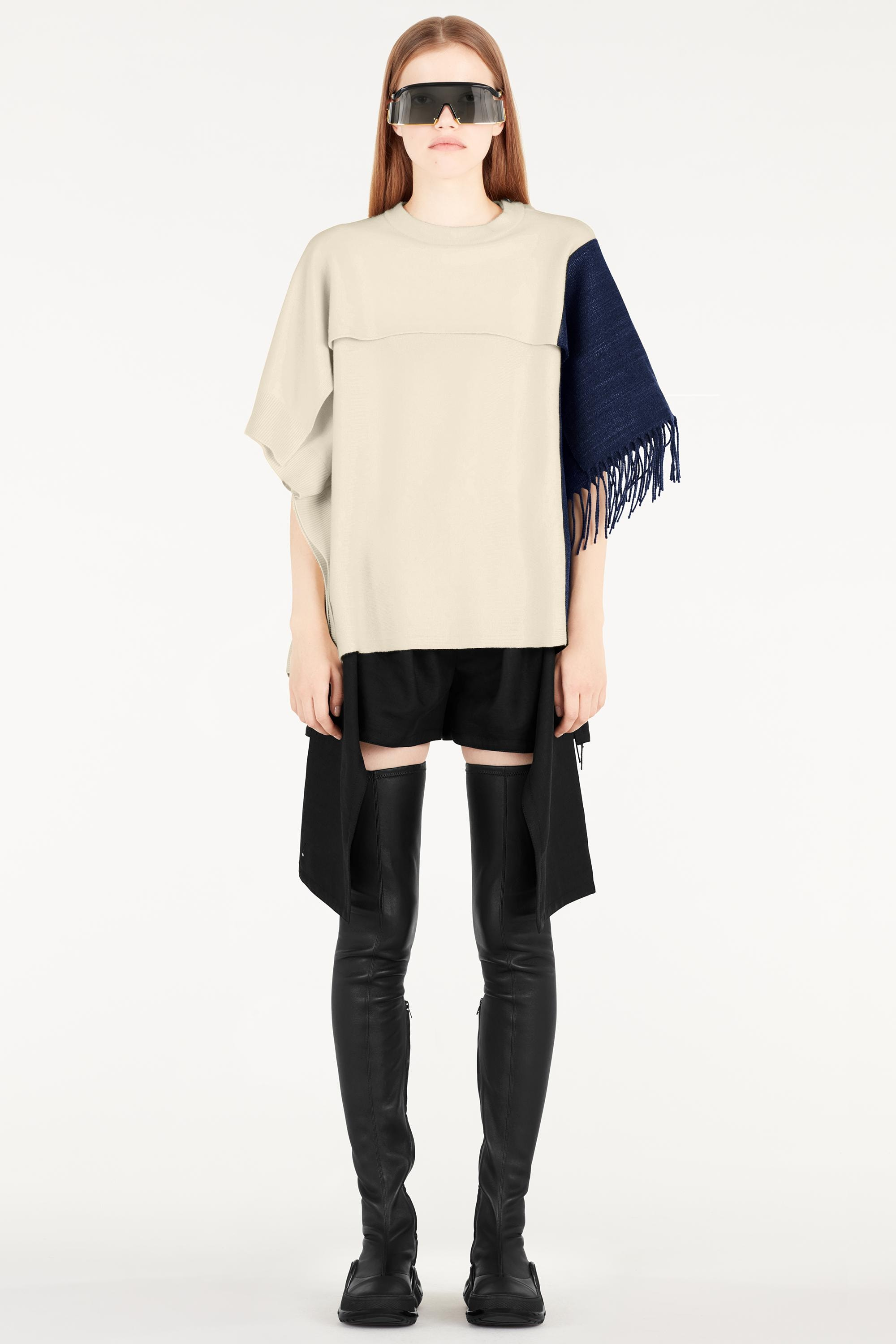 Regenponcho Kopen Knit Poncho With Fringes Ready To Wear Louis Vuitton