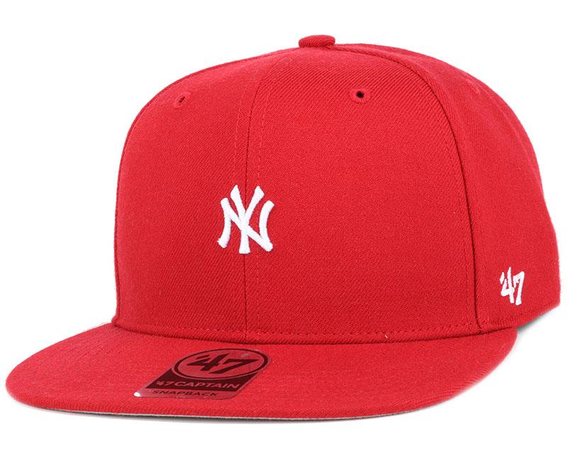 Ny Yankees Centerfield Captain Red Snapback 47 Brand Cap