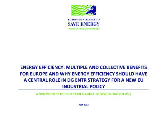 Energy efficiency multiple and collective benefits for Europe and