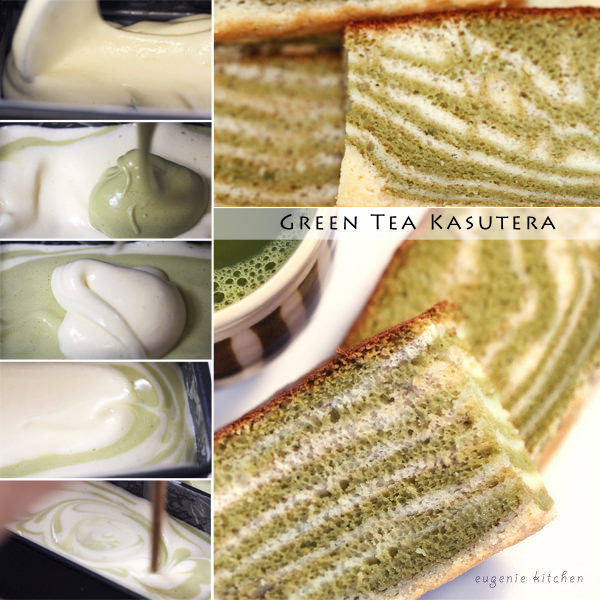 Green Tea Castella Cake Recipe