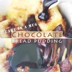 5-Minute Chocolate Bread Pudding – Microwave Recipe