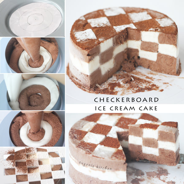 Checkerboard Ice Cream Cake Easiest Recipe Ever Eugenie Kitchen