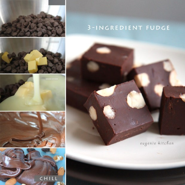 3-Ingredient Chocolate Fudge Recipe