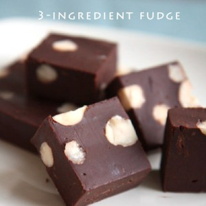 3-Ingredient Chocolate Fudge Recipe | No-bake Dessert