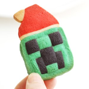 Minecraft Creeper Cookies Christmas