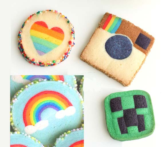 cookies skinny no bake cookies rainbow slice and bake sugar cookies ...