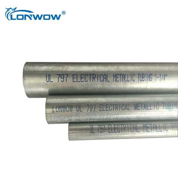 10 Ft Length Galvanised Metallic Tuberia Emt Electrical Wiring Tube