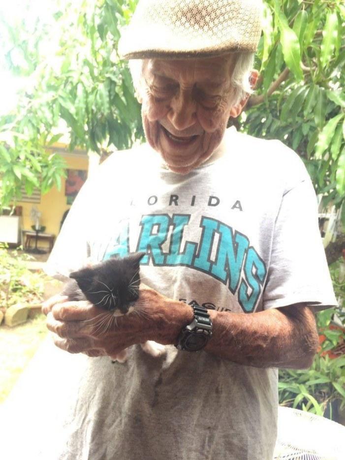 子猫とおじいちゃん