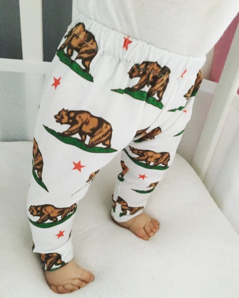 baby leggings california bear flag