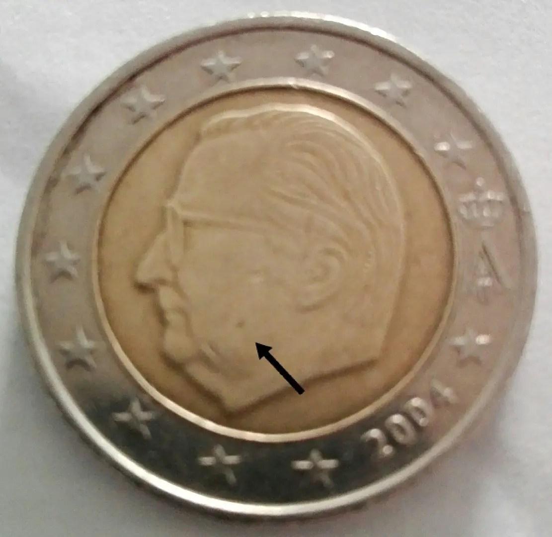 2 Euro Münze Wertvolle Euro Münzen Bekommen Blau Leuchtenden