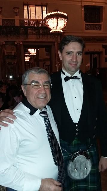 Арустамян Эрнест Санатрукович и Алан Томпсон на гала-ужине в честь 100-летия РБТП.