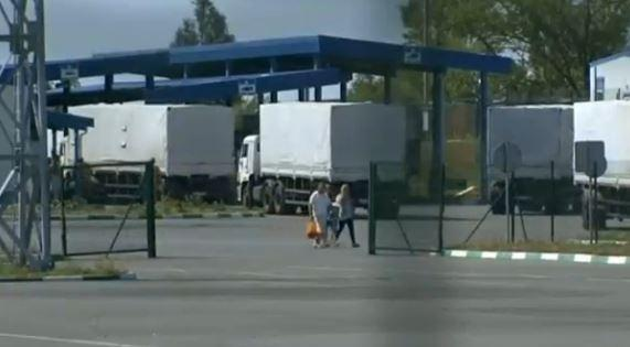 Reuters: Russian convoy crossed into Ukraine. Checkpoint Donetsk, Rostov Oblast, Russia August 22, 2014