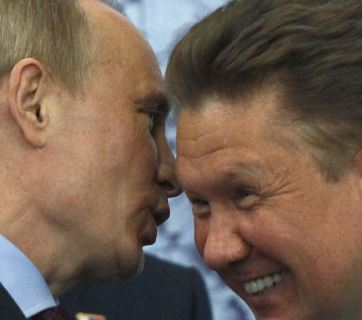 Putin with Miller, the head of Gazprom