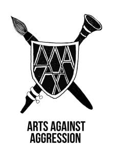 The logo of Arts Against Aggression