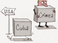 Cuba and Putin. Political cartoon by Yelkin