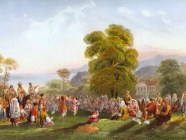 Dancing in Crimean Tatar Khanate by Carlo Bossoli, 1843