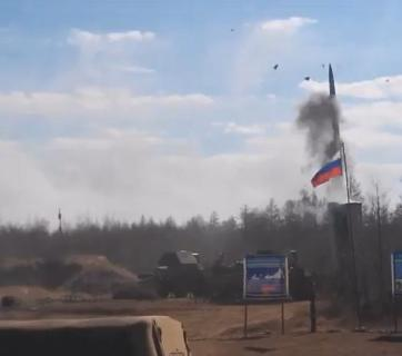 Film of the unsuccessful launch of a S-300 air defense missile appeared on YouTube this week (Image: YouTube screengrab)