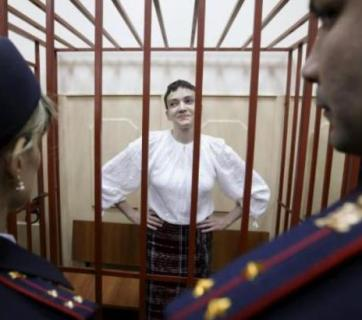 Nadiya Savchenko in Basmanny court on April 17, 2015